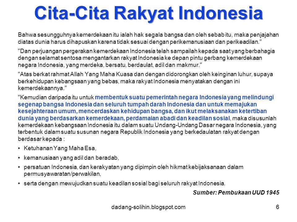 Cita-Cita Rakyat Indonesia