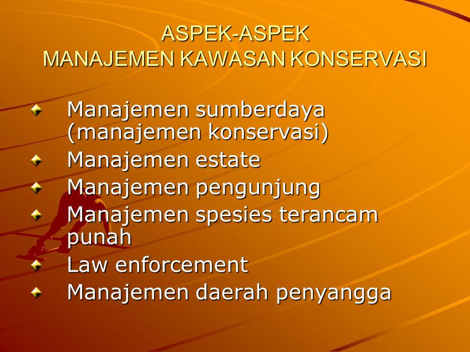 ASPEK-ASPEK MANAJEMEN KAWASAN KONSERVASI