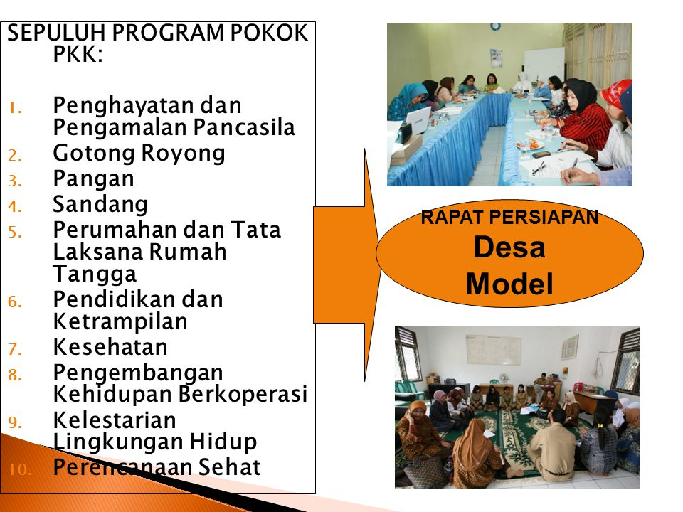 Desa Model SEPULUH PROGRAM POKOK PKK: