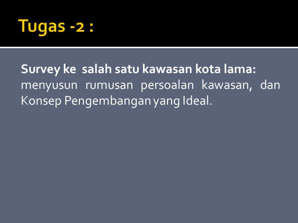 Tugas -2 : Survey ke salah satu kawasan kota lama: