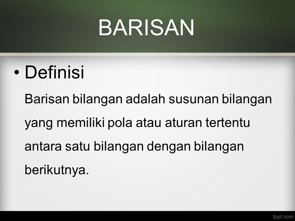 BARISAN Definisi.