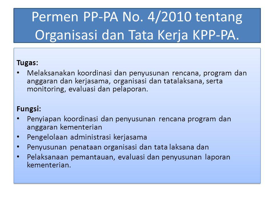 Permen PP-PA No. 4/2010 tentang Organisasi dan Tata Kerja KPP-PA.