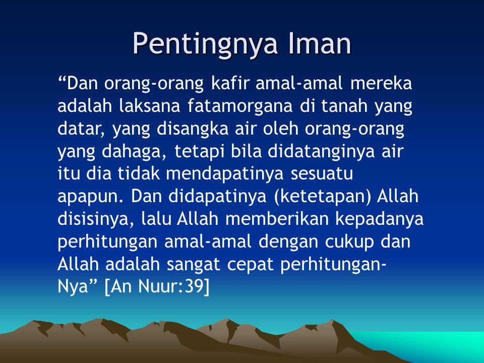 Pentingnya Iman