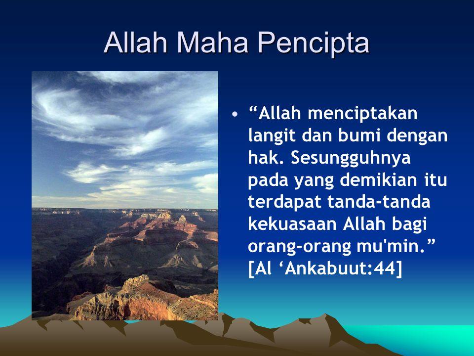 Allah Maha Pencipta