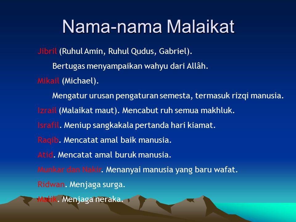 Nama-nama Malaikat Jibril (Ruhul Amin, Ruhul Qudus, Gabriel).
