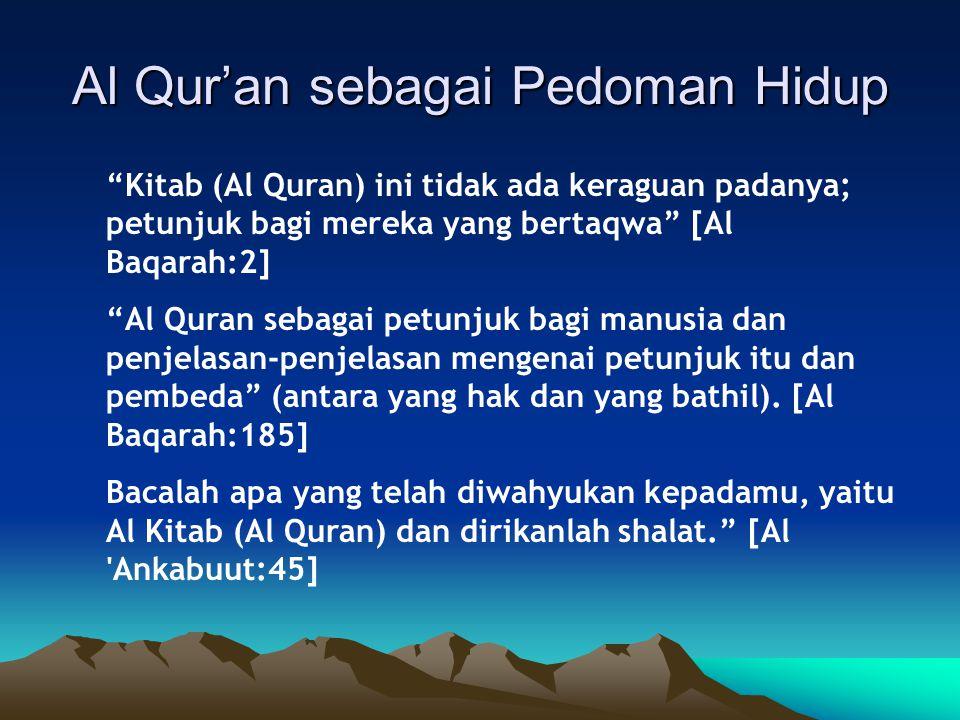 Al Qur'an sebagai Pedoman Hidup