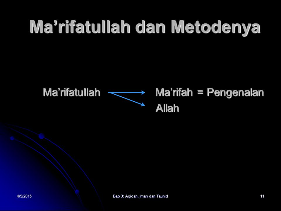 Ma'rifatullah dan Metodenya