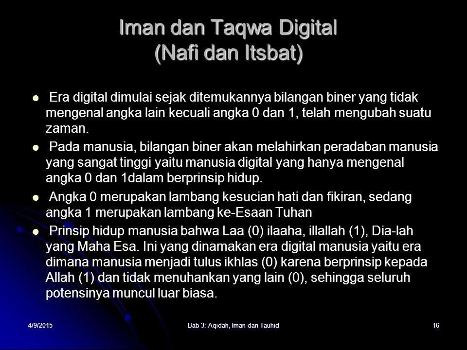 Iman dan Taqwa Digital (Nafi dan Itsbat)