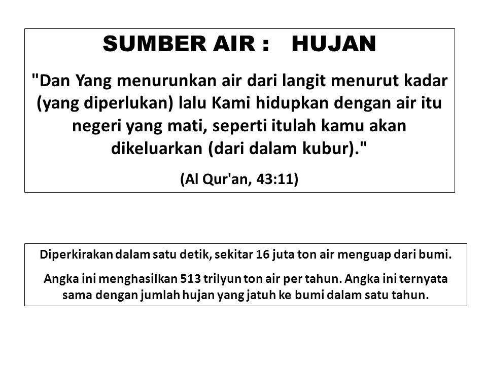 SUMBER AIR : HUJAN
