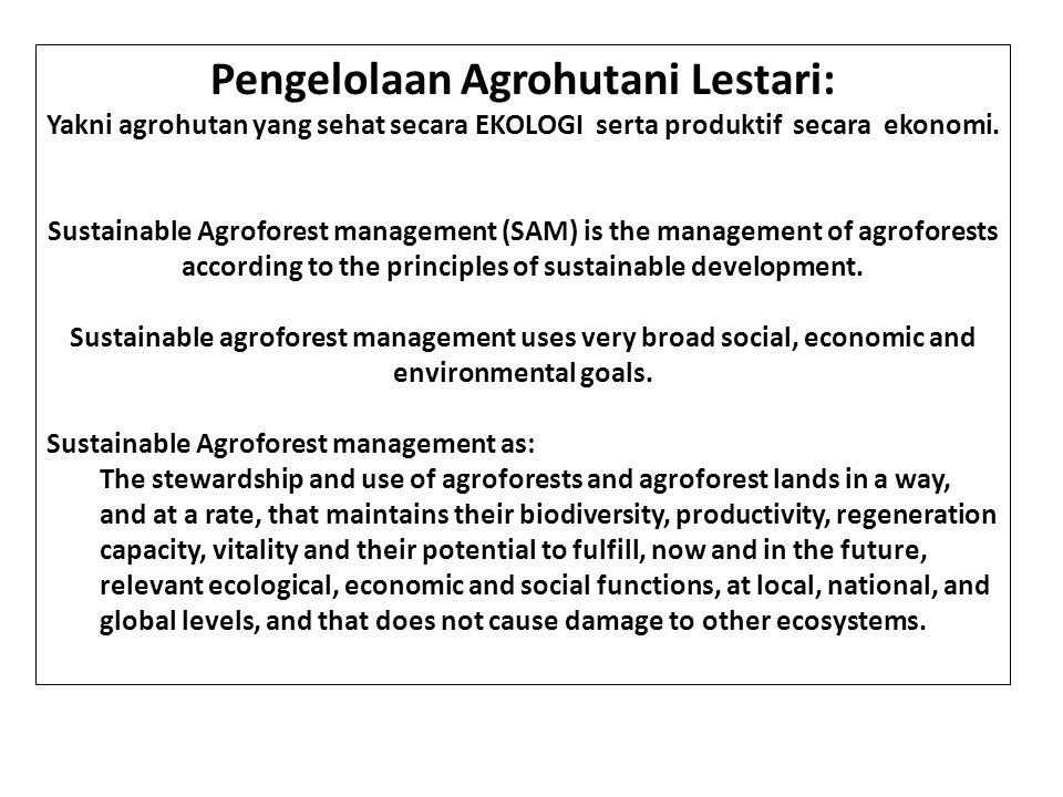Pengelolaan Agrohutani Lestari: