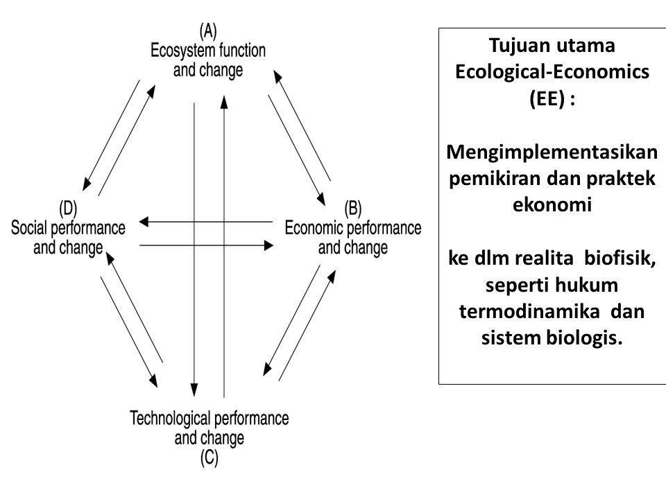 Tujuan utama Ecological-Economics (EE) :