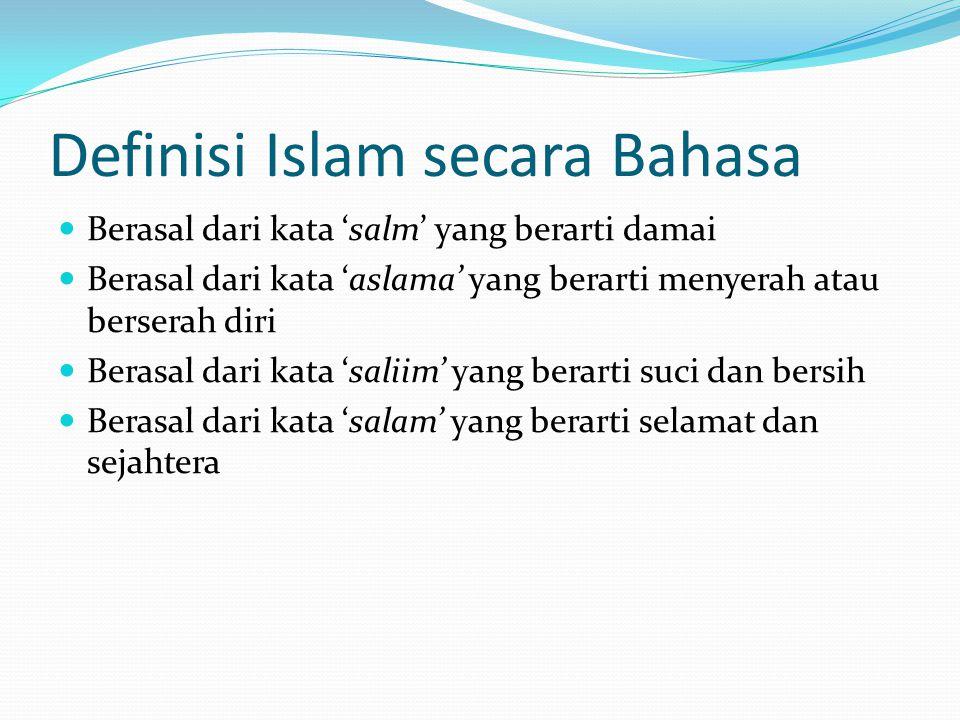 Definisi Islam secara Bahasa