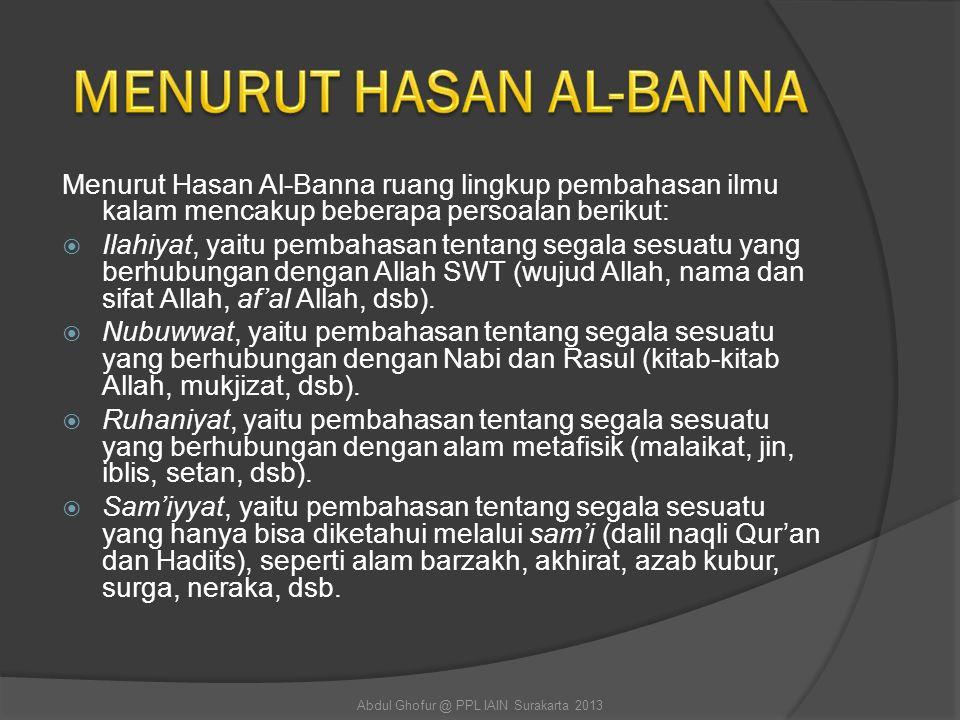 MENURUT HASAN AL-BANNA
