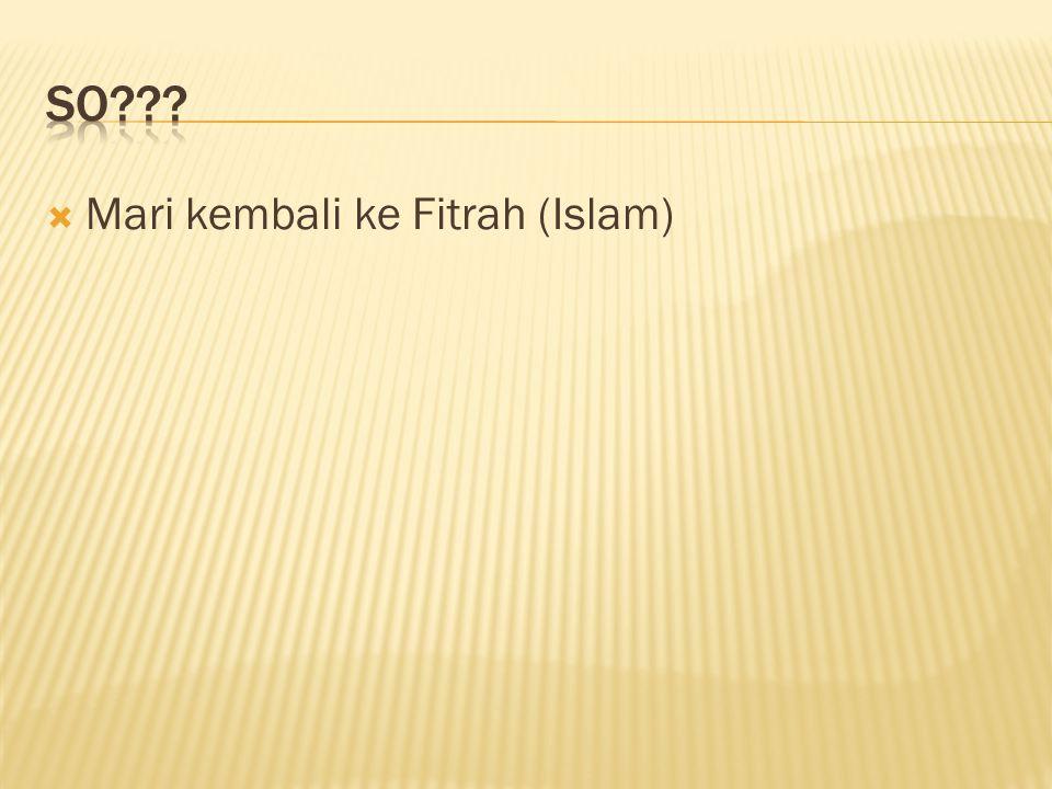 SO Mari kembali ke Fitrah (Islam)