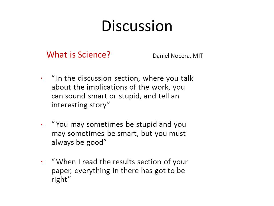Discussion What is Science