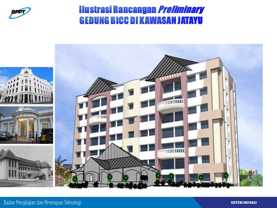 Ilustrasi Rancangan Preliminary GEDUNG BICC DI KAWASAN JATAYU