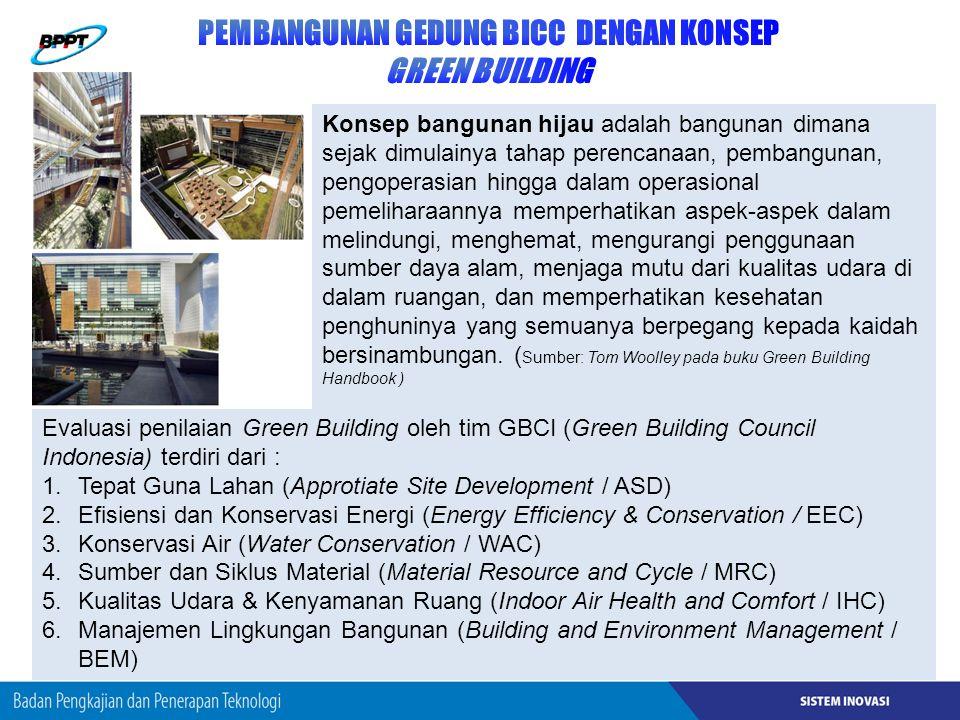 PEMBANGUNAN GEDUNG BICC DENGAN KONSEP GREEN BUILDING