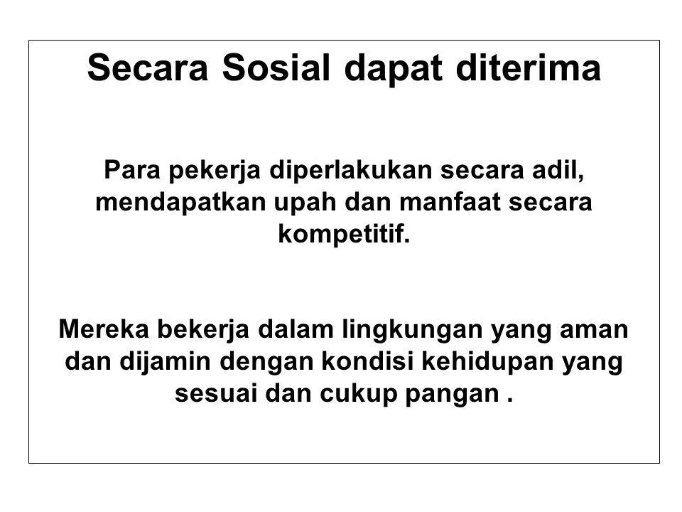 Secara Sosial dapat diterima