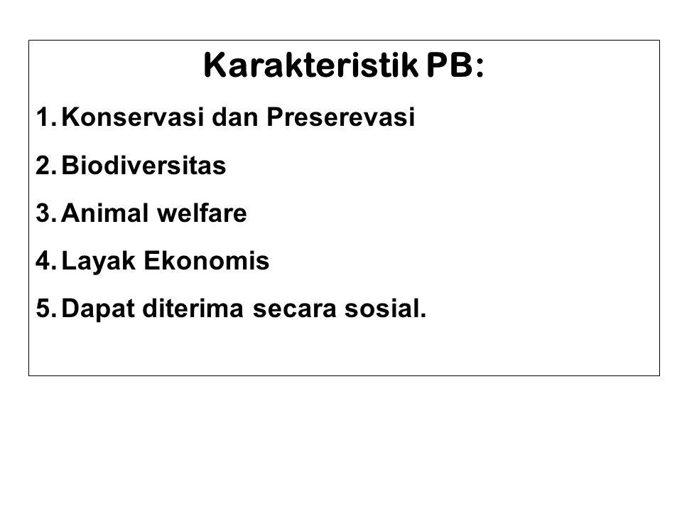 Karakteristik PB: Konservasi dan Preserevasi Biodiversitas