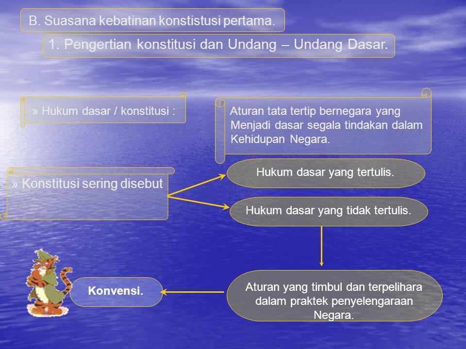 1. Pengertian konstitusi dan Undang – Undang Dasar.