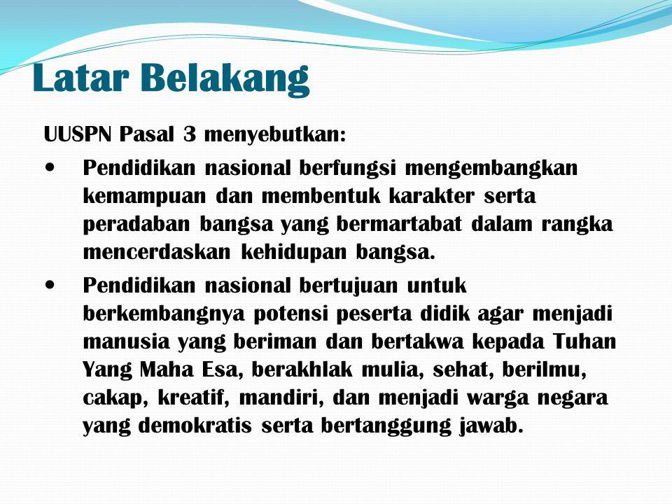 Latar Belakang UUSPN Pasal 3 menyebutkan: