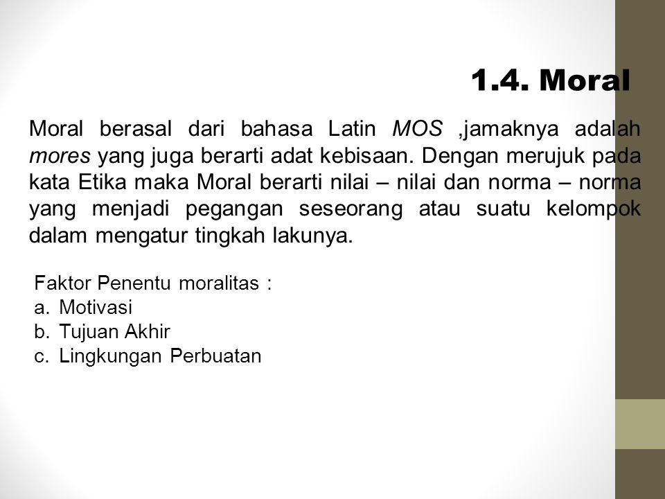 1.4. Moral