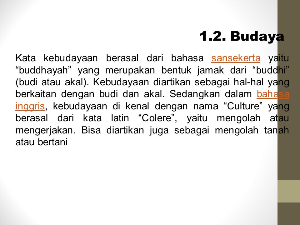 1.2. Budaya