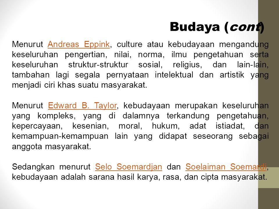 Budaya (cont)