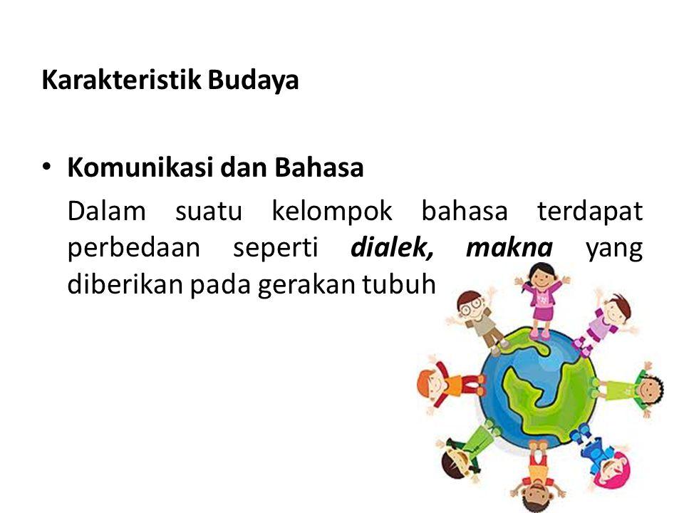 Karakteristik Budaya Komunikasi dan Bahasa.