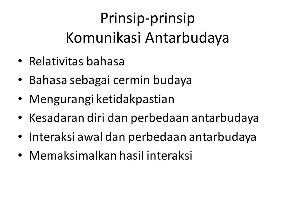 Prinsip-prinsip Komunikasi Antarbudaya