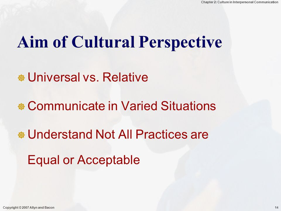 Aim of Cultural Perspective