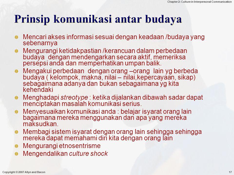 Prinsip komunikasi antar budaya