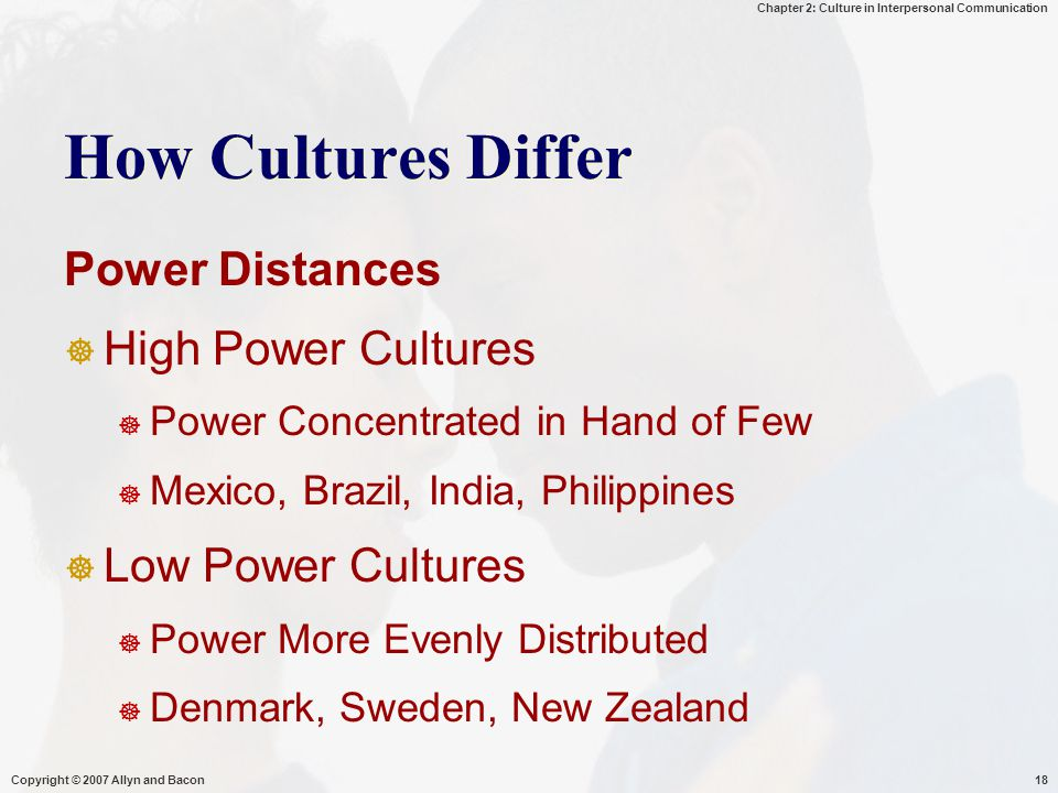 How Cultures Differ Power Distances High Power Cultures
