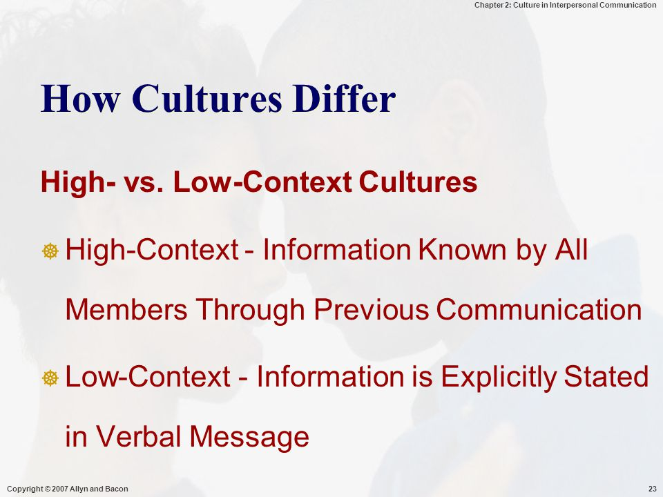 How Cultures Differ High- vs. Low-Context Cultures