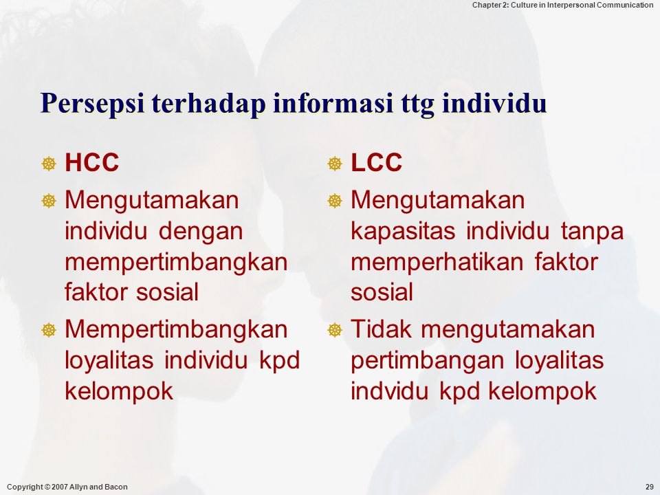 Persepsi terhadap informasi ttg individu