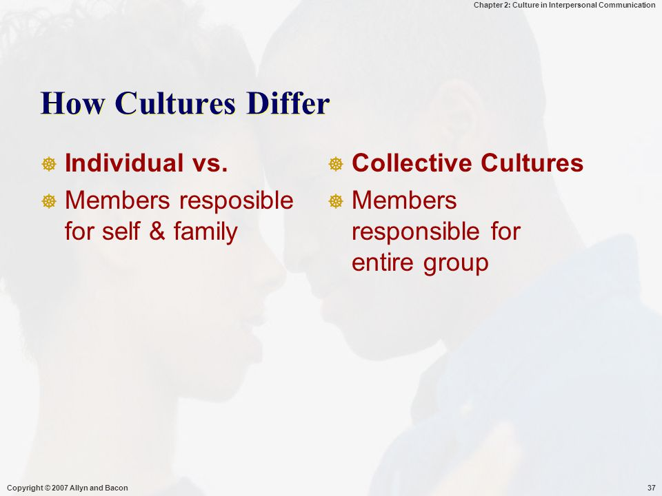 How Cultures Differ Individual vs.