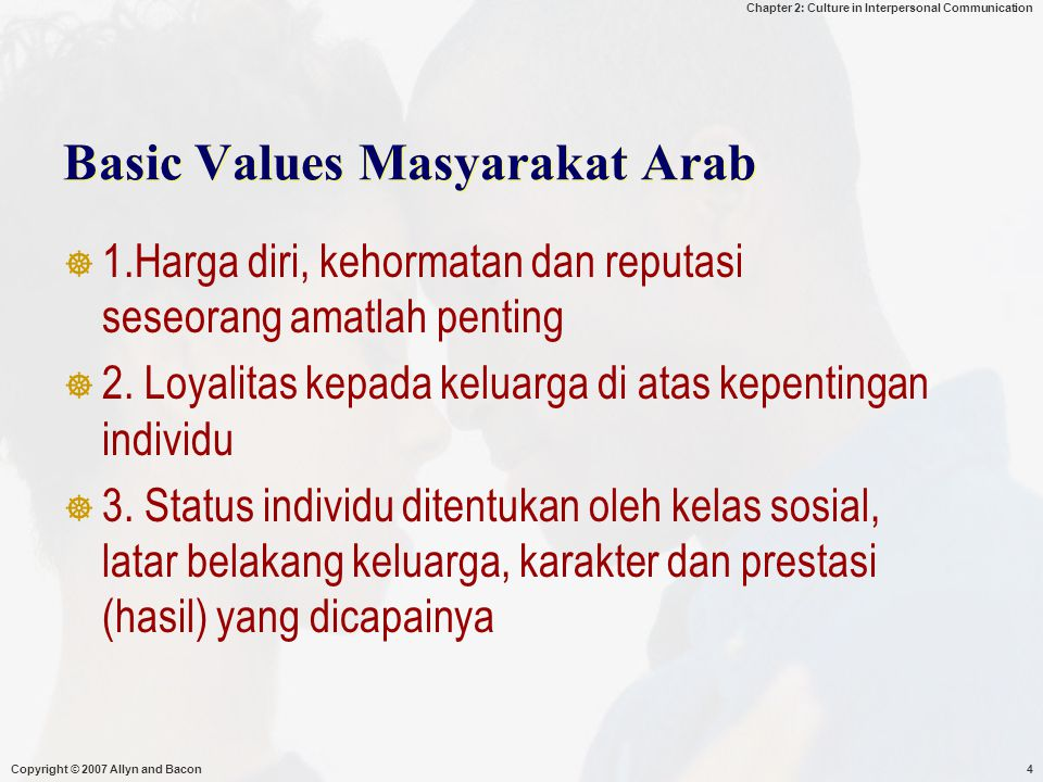 Basic Values Masyarakat Arab
