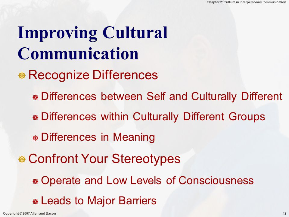 Improving Cultural Communication