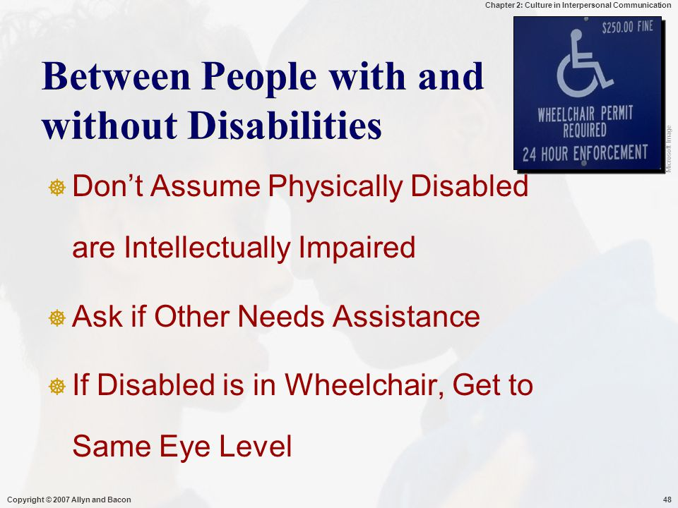 Between People with and without Disabilities