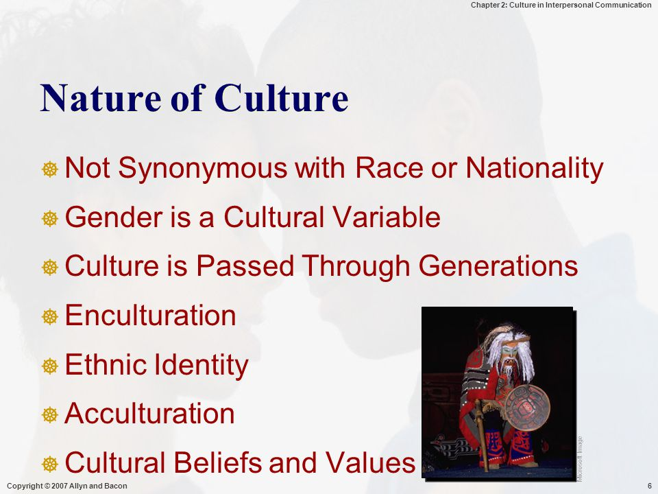 Nature of Culture Not Synonymous with Race or Nationality