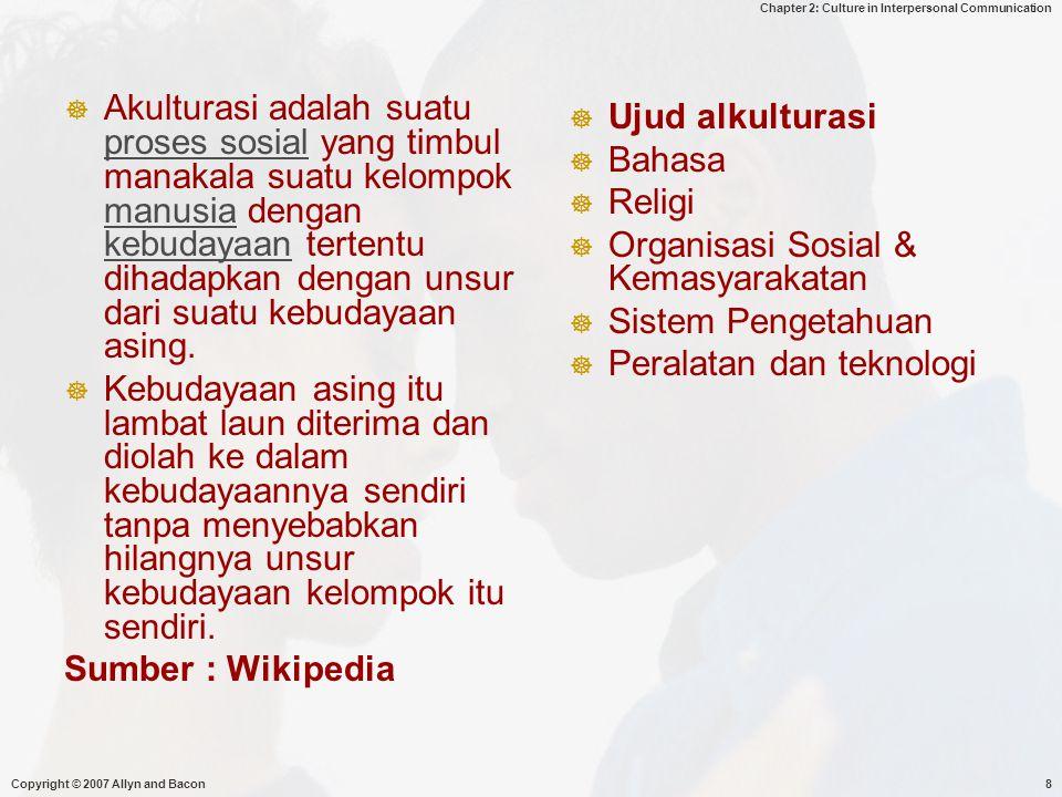Organisasi Sosial & Kemasyarakatan Sistem Pengetahuan