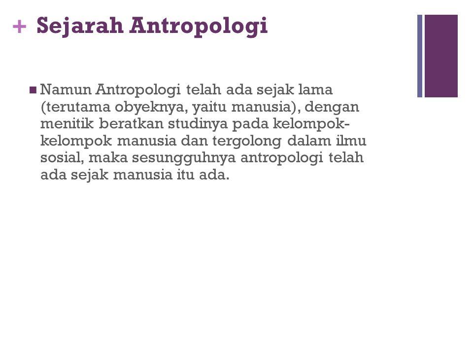 Sejarah Antropologi