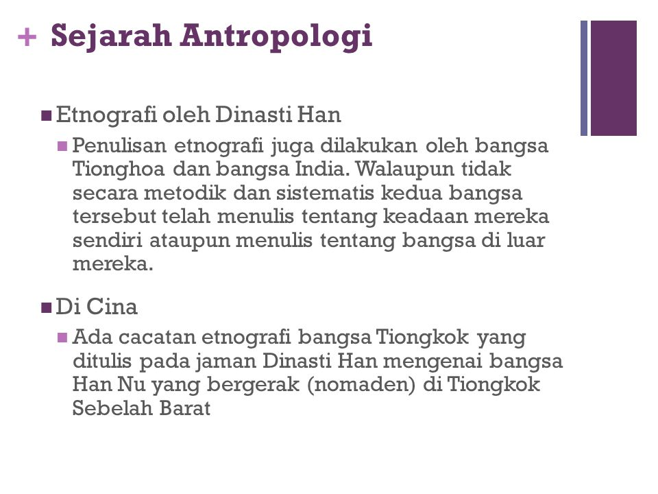Sejarah Antropologi Etnografi oleh Dinasti Han Di Cina
