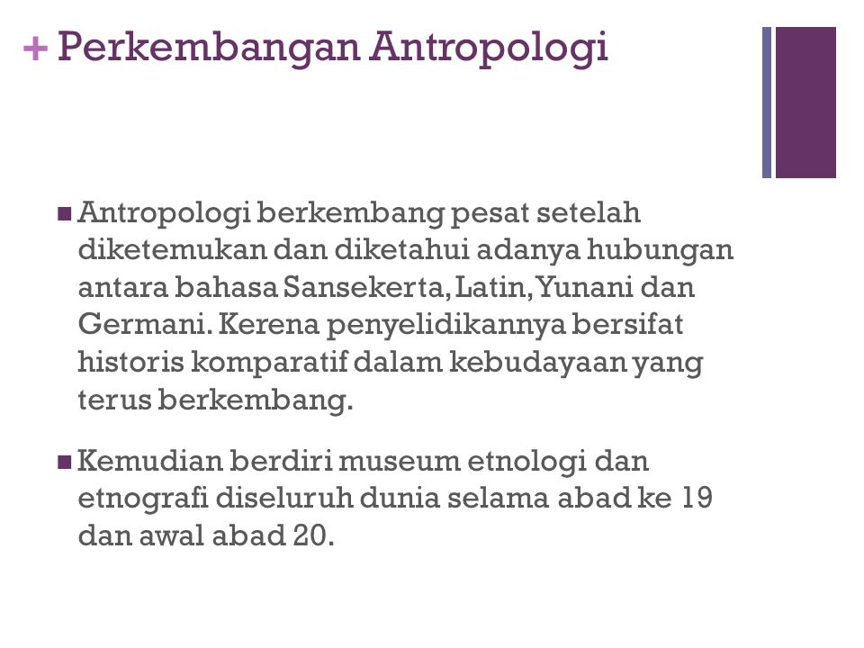 Perkembangan Antropologi