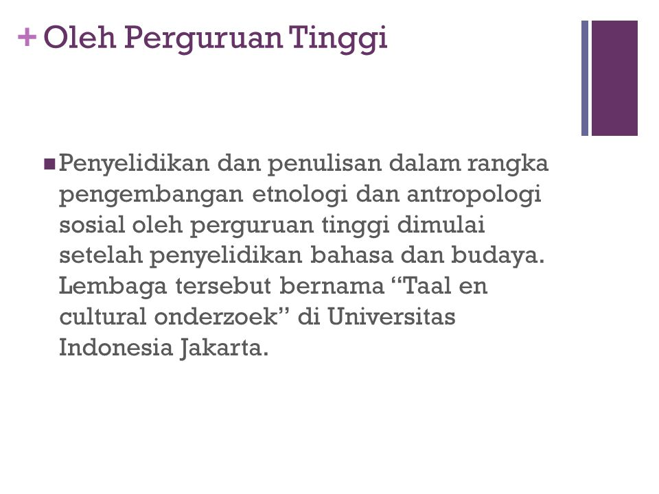 Oleh Perguruan Tinggi
