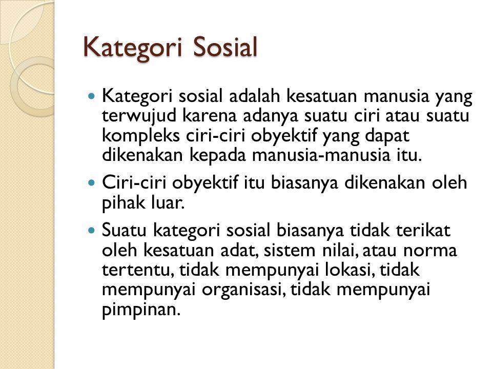 Kategori Sosial