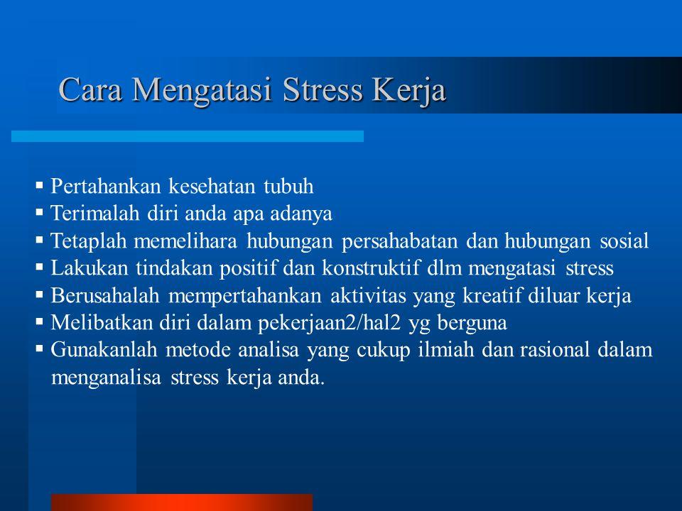 Cara Mengatasi Stress Kerja