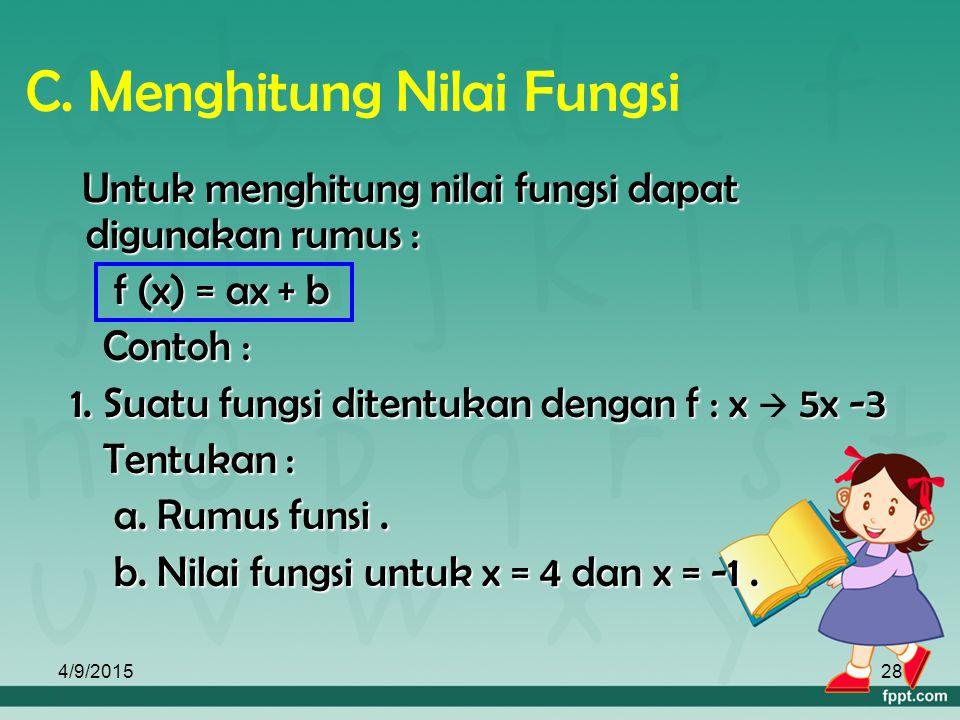 C. Menghitung Nilai Fungsi
