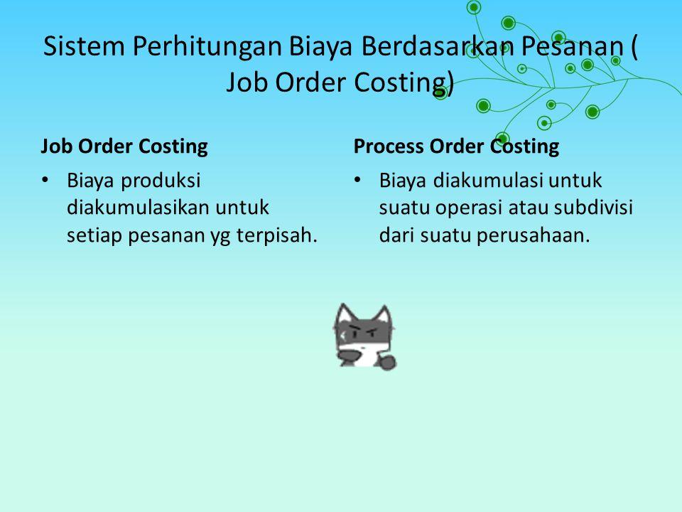 Sistem Perhitungan Biaya Berdasarkan Pesanan ( Job Order Costing)