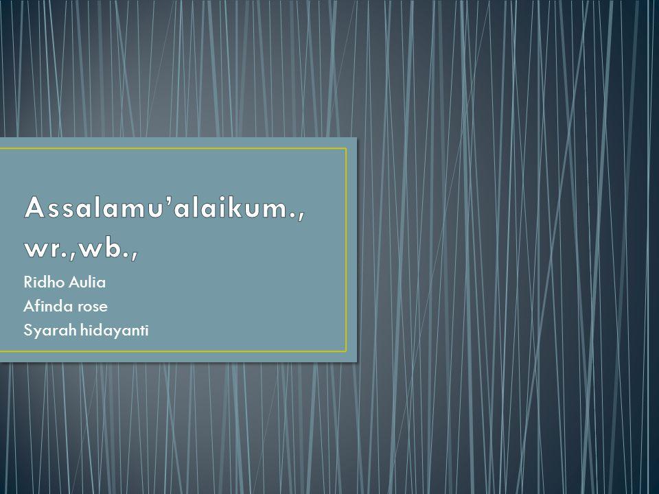 Assalamu'alaikum.,wr.,wb.,